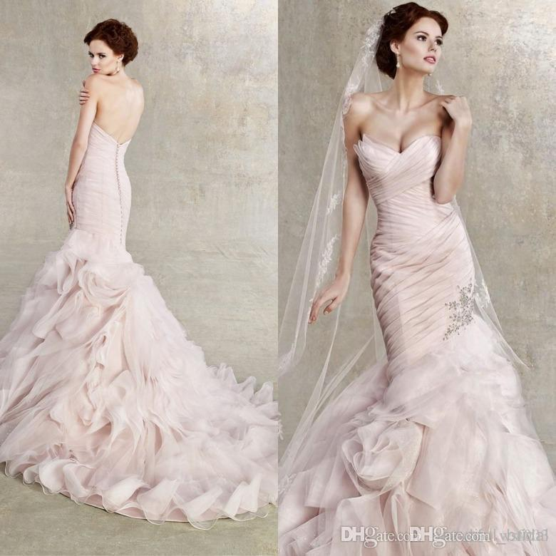 Emejing Pink Ruffle Wedding Dress Pictures - Styles & Ideas 2018 ...