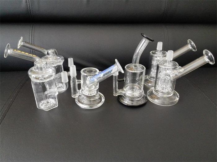 2つの機能インラインペルクの濃縮ガラスの水道管のガラスボーンミニバブラー送料無料
