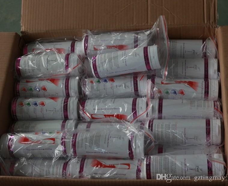 Vente en gros - 1 pièce LED rouleau derma en acier inoxydable Microneedle 540 aiguilles Dermaroller