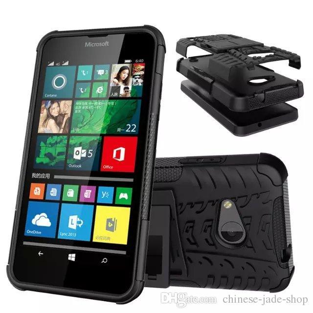 Microsoft Lumia 550 Asend P9 Y3 II Y5 II HONOR 7 8 5C Dazzle Hybrid KickStand Resistente agli urti TPU resistente + Custodia antiurto PC Cover 50