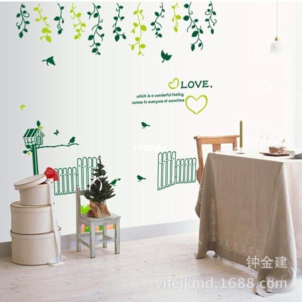 Acquista Adesivi Murali Della Decorazione Della Casa Salone Verde ...