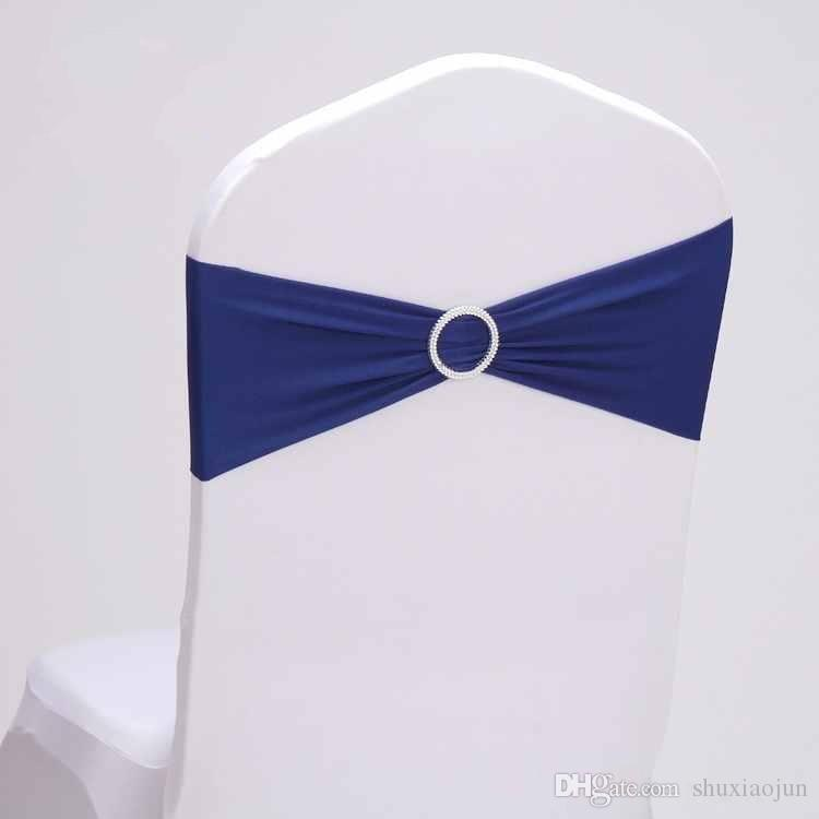 2015 Hot Sale Spandex Chair Bands With Diamond Buckle/Chair Cover Sash/Chair Band In Chair Cover For Wedding Events Decoration