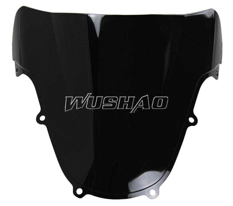 Parabrisas Doble Motocicleta WindScreen WindScreen Para 2000-2002 Suzuki GSXR1000 GSXR 1000 K2 00 01 02 2001 Negro