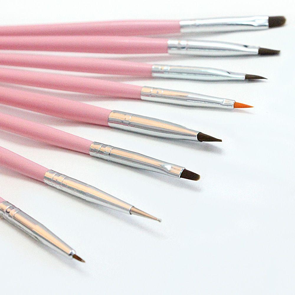 Wholesale- Nail Brushes Acrylic UV Gel Nail Polish Painting Pen/Dotting Pen  Drawing Professional DIY Builder Tips Manicure Tools