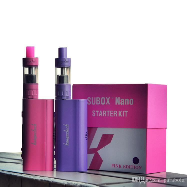 Kanger Subox Nano Starter Kit com 3 ML Subtanque Nano Atomizador 50 W Kbox nano mistura cores VS kangertech subox kits de mini starter