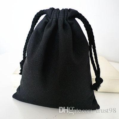 2017 Black Canvas Drawstring Bag 8cmx10cm 3x 4 Can Print Logo 100 ...