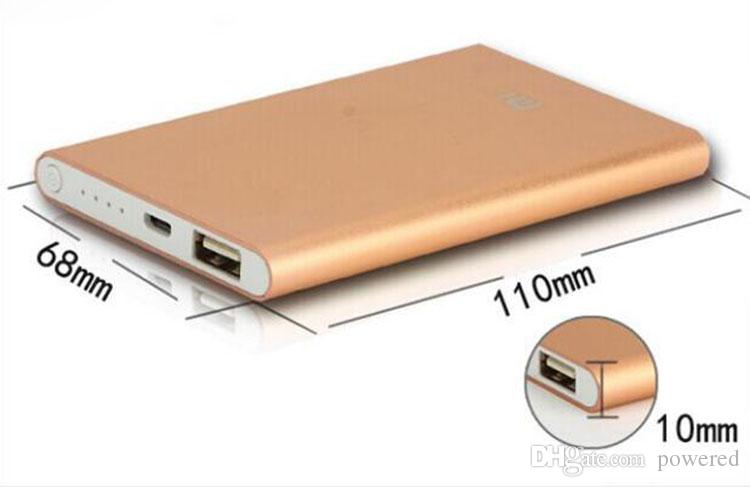 Ultra mince mince powerbank 8800mah banque de puissance ultra-mince pour téléphone mobile Tablet PC batterie externe livraison gratuite