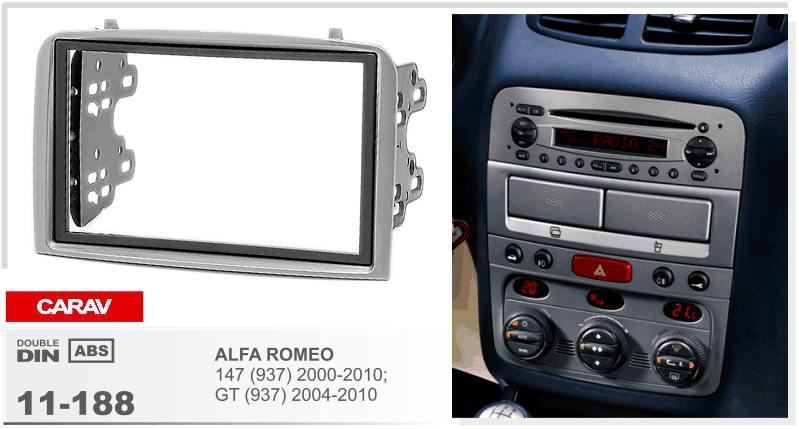 Carav 11 188 Car Radio Fascia Frames For Alfa Romeo 147 937 2000 ...