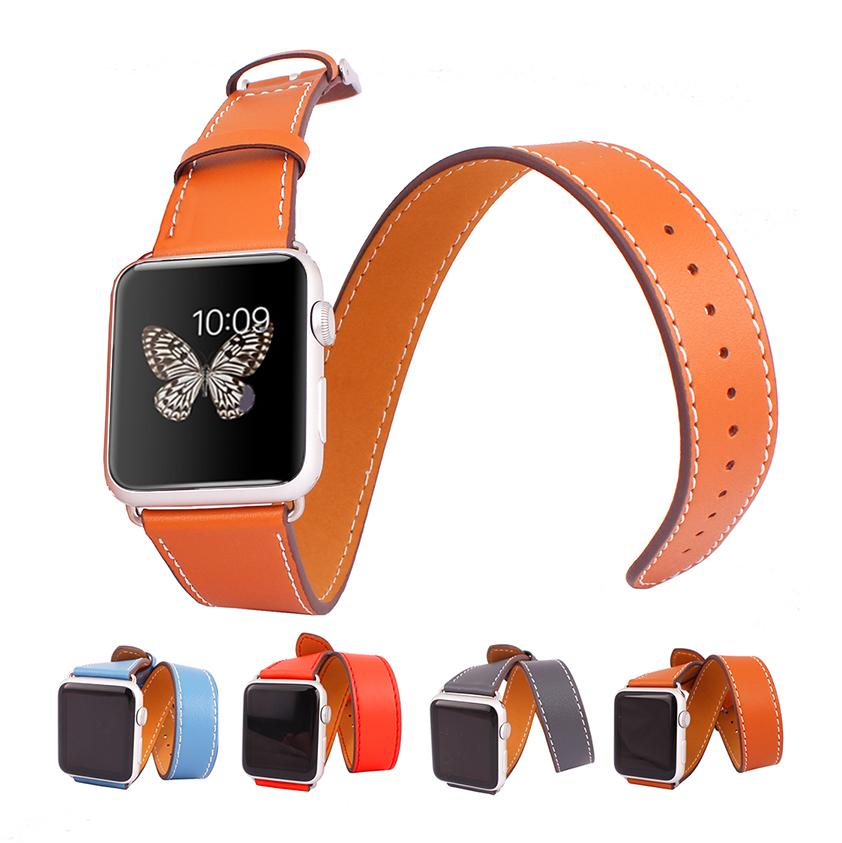 wearable new 38mm 42mm genuine leather cuff watch band strap buckle adapter for hermes apple watch iwatch sport edition in stock leather watch strap