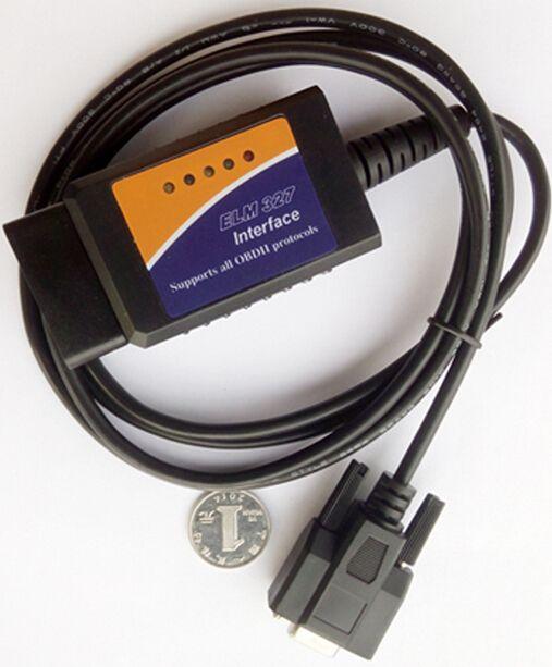 10 PZ ELM327 COM RS232 OBD2 Scanner Firmware Revisione V1.4B OBDII ELM 327 OBD Strumento Diagnostico Supporta Tutti I Protocolli OBDII