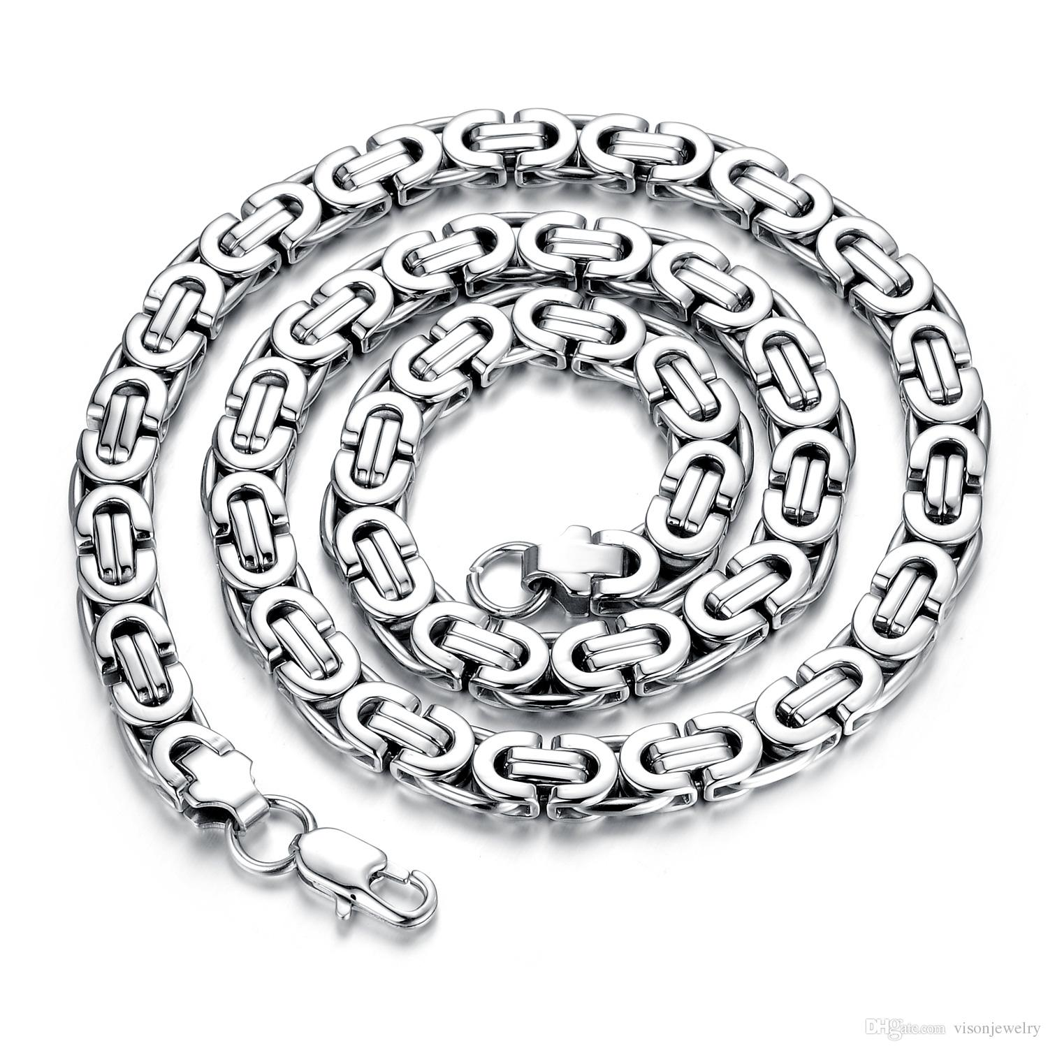 aaec97b3161ff Steel Necklace Mens images
