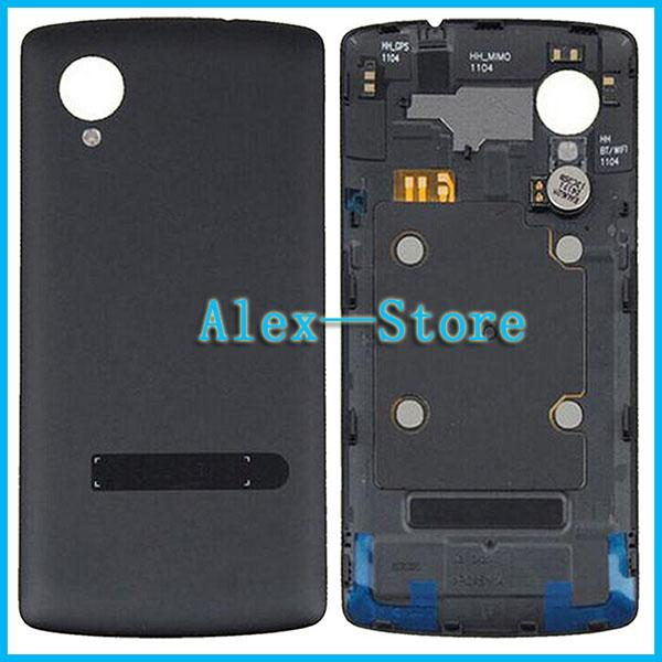 100% original nova porta da bateria para lg google nexus 5 d820 d821 voltar habitação tampa com vibrador + nfc branco preto frete grátis