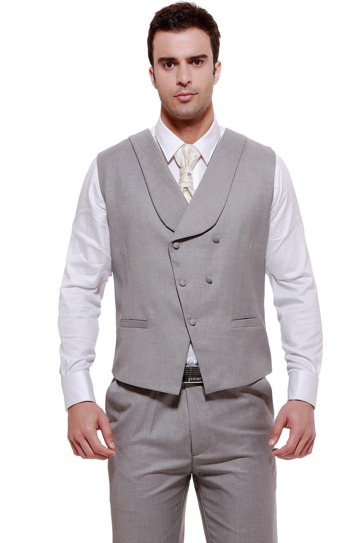 Hot Formal Light Grey Men'S Waistcoat 2015 New Arrival Fashion ...