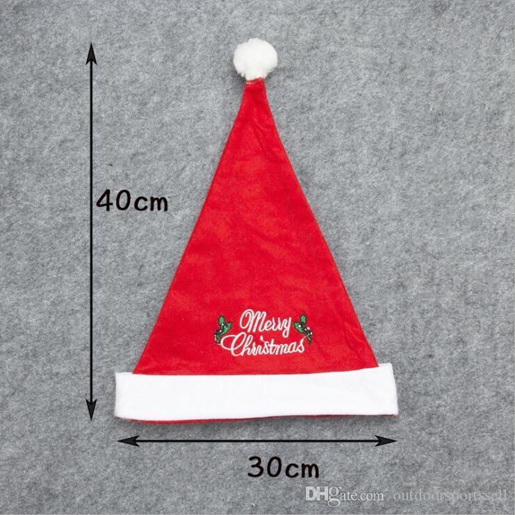 embroidery Merry Christmas hats Non-woven embroidery Christmas hat Adult Christmas tree decorations supplies festive party dress gifts caps