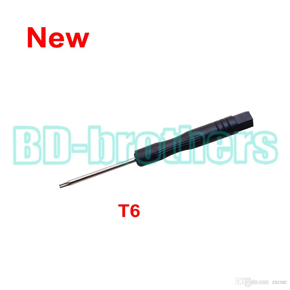 새로운 도착한 블랙 T6 드라이버 Torx 스크류 드라이버 컴퓨터 하드 드라이브 용 키 열기 도구 Samsung Nokia Moto Phone 수리 /