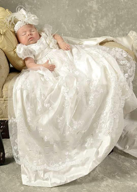 5ccd7cf98 Princess White Lace Baby Christening Dresses Kids Baptism Gowns ...