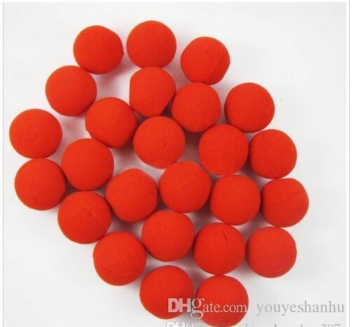 Vente en gros / Party éponge Red Ball nez de clown magique pour Halloween Party mascarade Christamas Decors accessoires Decors