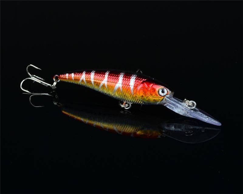 Hot Blabbermouth Wobbler Crankbait Lure 9.5cm 7g 3D eyes Laser ABS Plastic jigging fishing bait