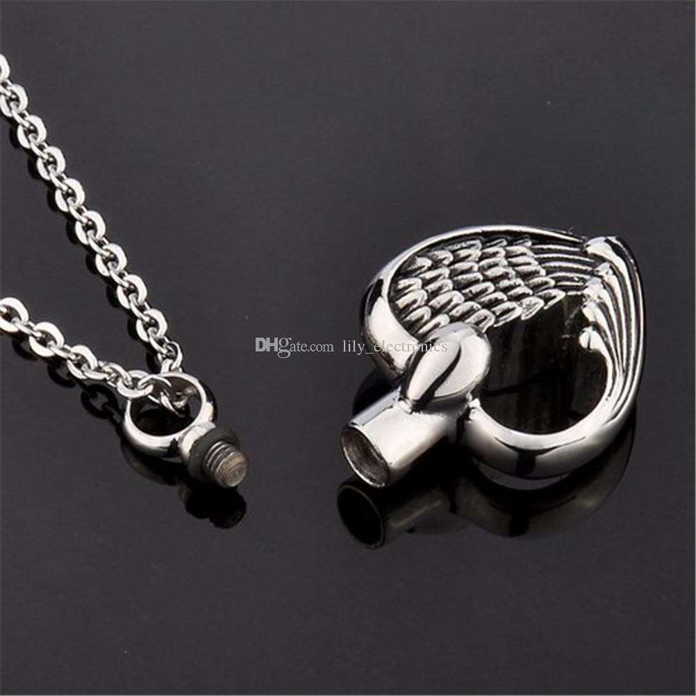 Collana a forma di ciondolo in acciaio inossidabile con ciondolo a forma di ciondolo con ciondolo a forma di cuore e ciondolo con ciondolo a forma di cuore
