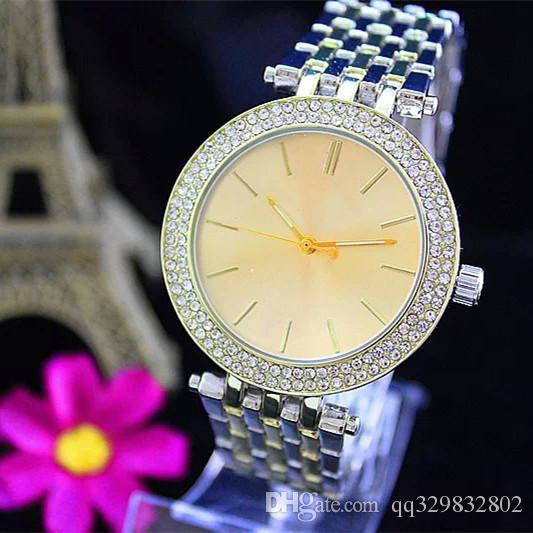 Ultra delgado de oro rosa de la mujer flor de diamante relojes 2017 marca de lujo de la enfermera señoras vestidos hebilla plegable de regalos para niñas