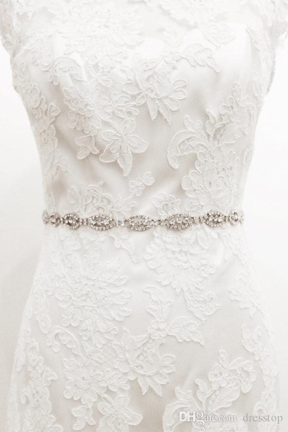 Luksusowe Ręcznie Made Dżetów Kryształy Ślub Sashes Pasy Bridal 2019 New Arrival Akcesoria Bridal w magazynie