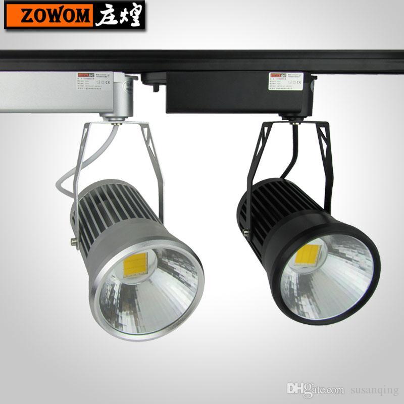 30w Led Track Lighting Fixtures: 2017 20w 30w Ceiling Track Rail Lighting Fixtures Cob Led