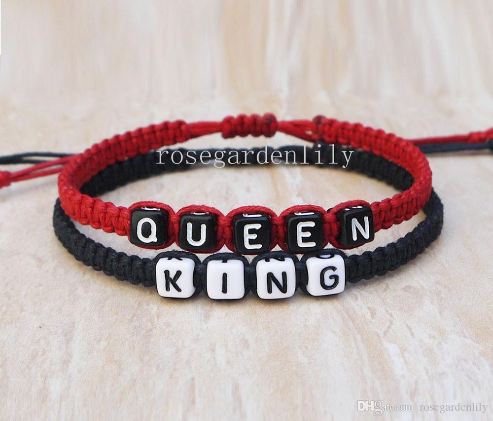 King Queen Couples Bracelets, Loves Bracelets, Anniversary Gift ...