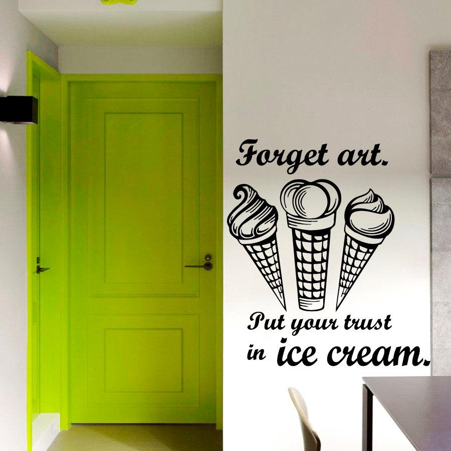 put your trust in ice cream wall sticker vinyl removable home see larger image