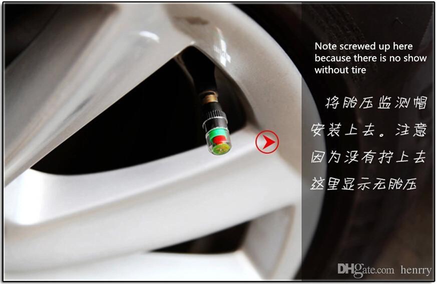 de Air Alert válvula del neumático del coche del casquillo de presión de los neumáticos control de presión de neumáticos de automóviles 2.4BAR de herramientas TPMS 36PSI es de alerta