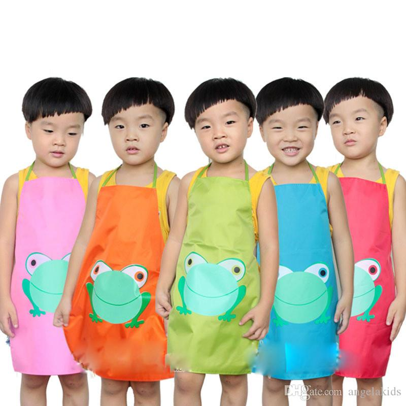 Factory direct sale Children's drawing Waterproof apron gown The kindergarten Five colours The latest A variety of design