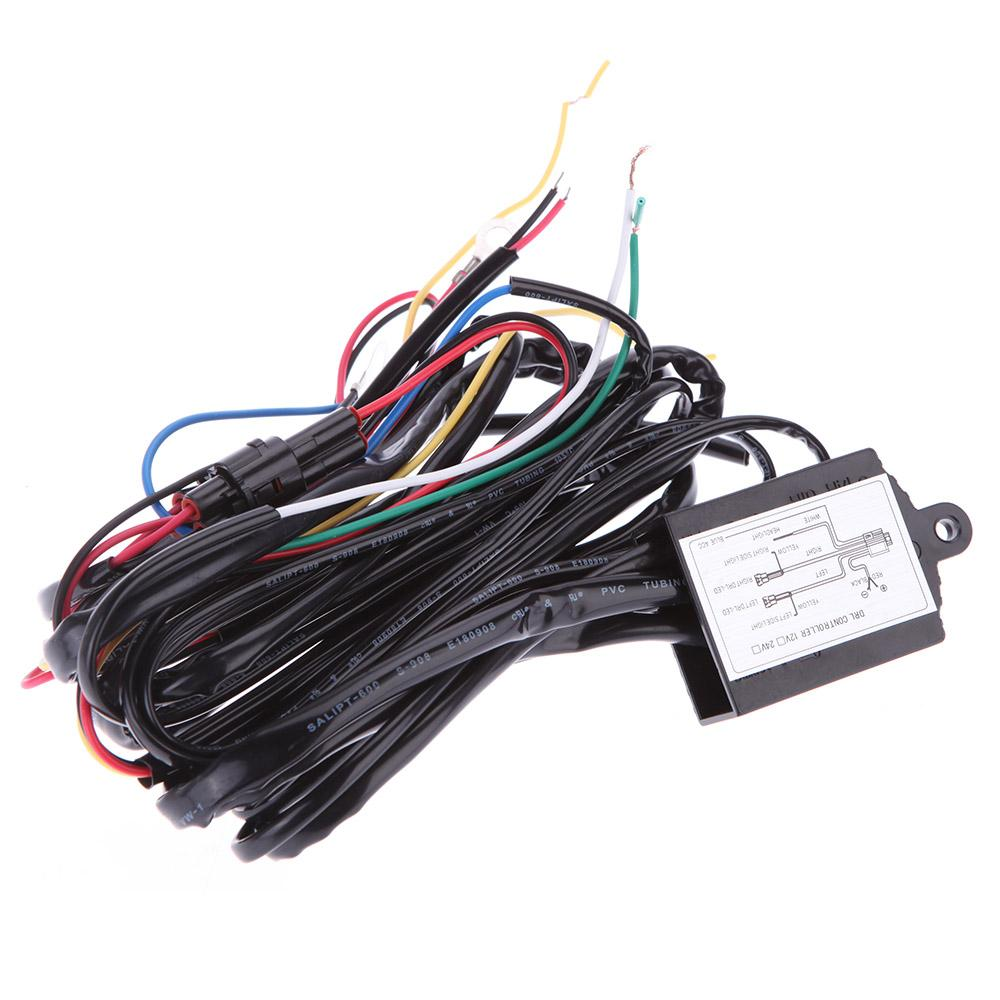 Universal Auto Car Led Drl Daytime Running Light Relay Harness Auto Car Controller Switch 12v