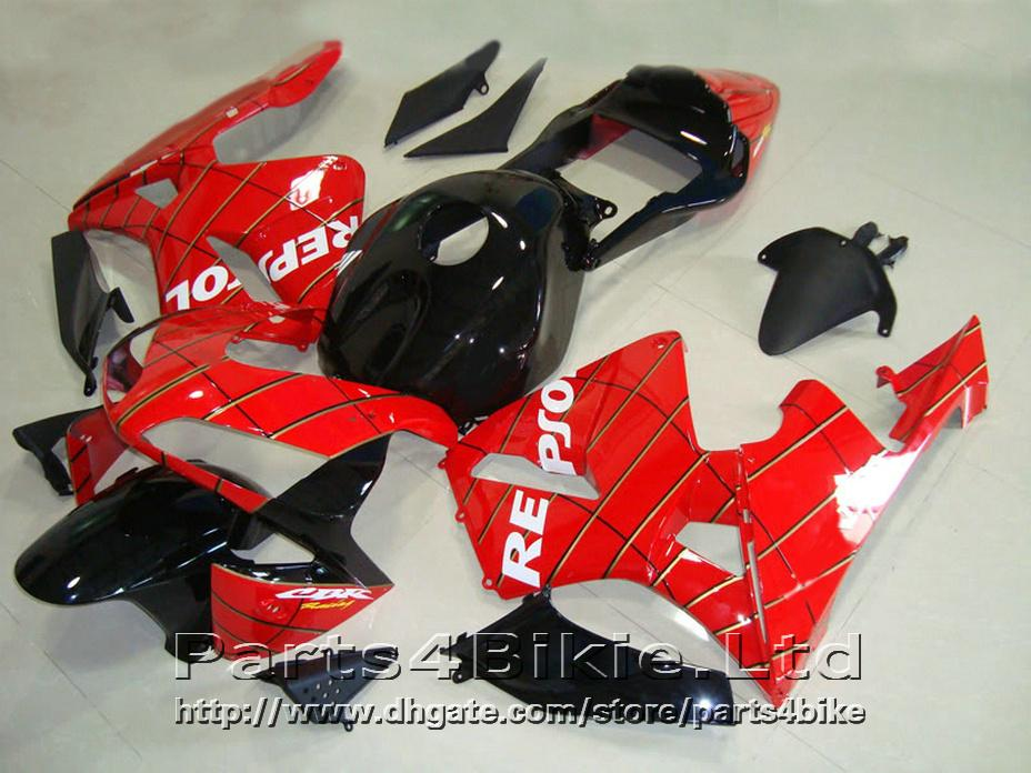 Repsol red black Carrozzeria carenature Honda CBR600RR 2003 2006 Carene CBR 600 RR CBR 600RR 03 04 AGTC