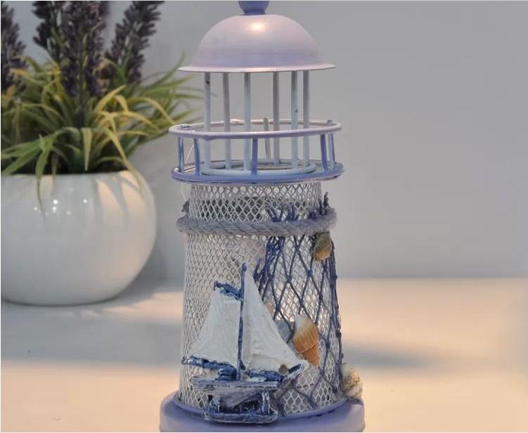Zakka Home Decor Handmade Mediterranean Style Candle Holders Ocean