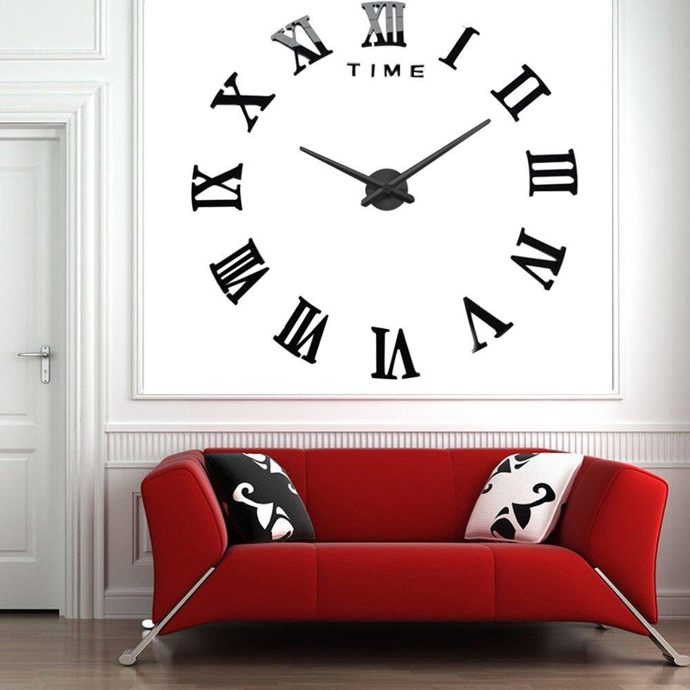Modern Design Diy 3d Big Wall Clock Home Decor Quartz Horloge Wall