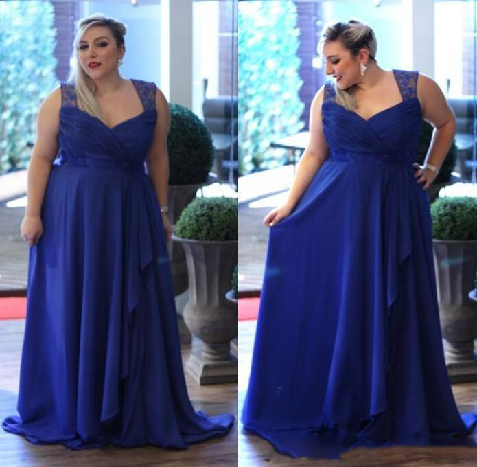 Plus Size Custom Made Chiffon Fat Mother Off Bride Dresses Royal ...