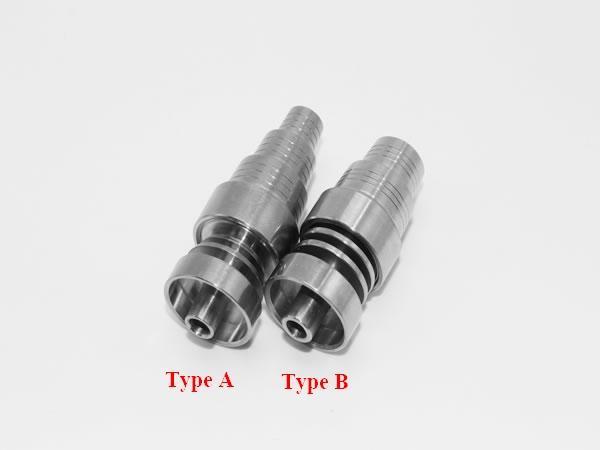 raccord titane Universellement Domeless 10 mm ou 14 mm ou 18 mm Clou de titane pour Homme ou Femme Articulations pour la plate-forme pétrolière de verre et Dab