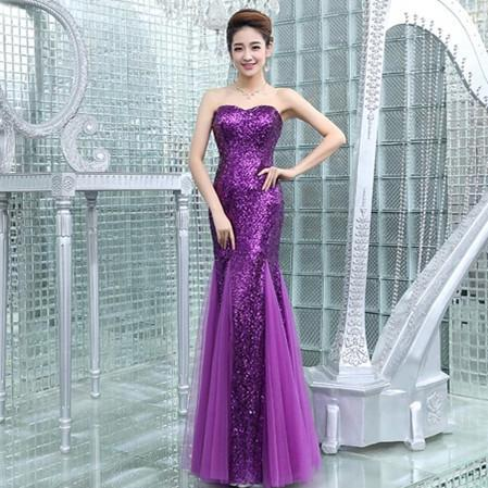 Bridesmaids Dresses For Womens Mermaid Sexy Sequins Luxury Dresses Carpet Party Dresses Evening Backless Chiffon Couture Prom Dresses