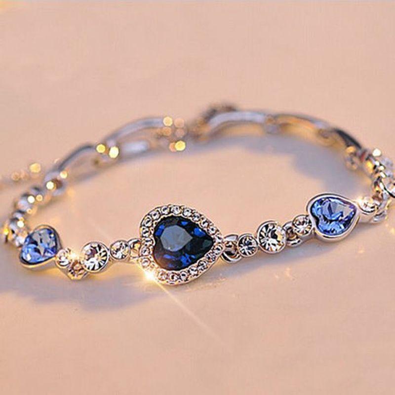 Wholesale Stylish Women Girls New Fashion Ocean Blue Sliver Plated ...