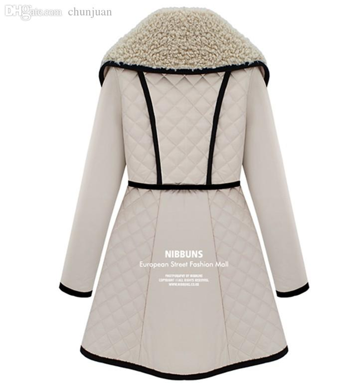 Wholesale-Lady New Winter Cotton-padded Jacket Coat Women's ... : white quilted coat - Adamdwight.com