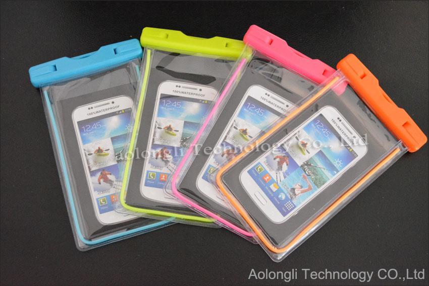 범용 발광 명확한 PVC 방수 가방 수중 파우치 튼튼한 케이스 커버 아이폰 6 기가 플러스 삼성 참고 5/4 S6 S5