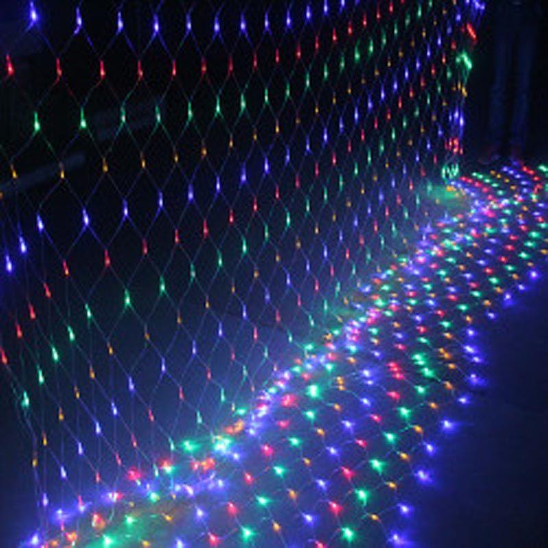 LED String lights LED net lights with Controller 220V and 110V LED Curtain Lights LEDs 1.5M*1.5M 2M for Wedding Party