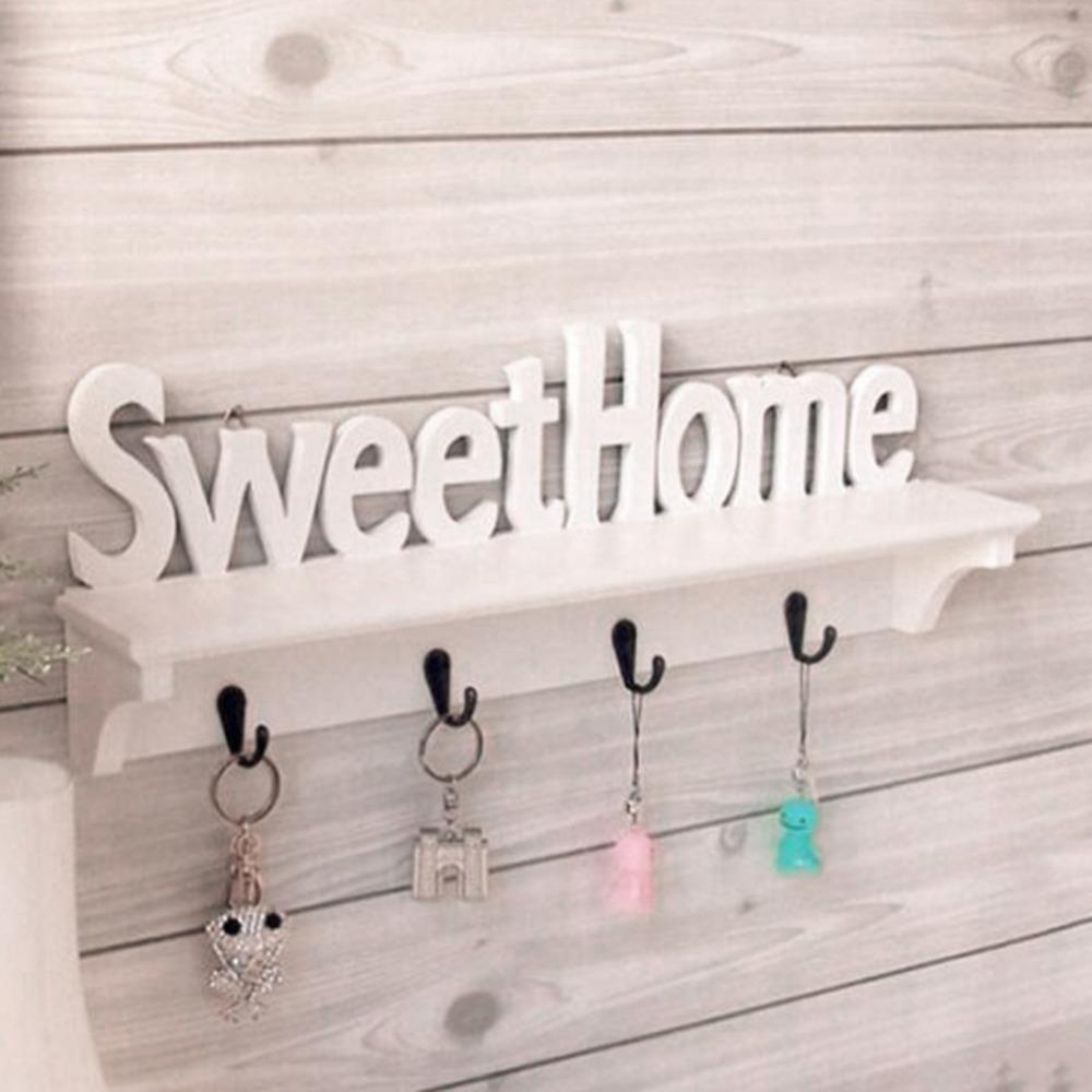 2019 Wholesale Wpc Board Wall Hook Rack Sweet Home Wall Shelf
