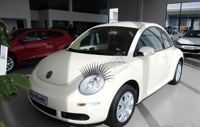 Adesivi 3D ciglia PVC nero 31 cm 3M colla auto faro falso sopracciglio eyeliner adesivo personalizzato mini cooper snoopy tutte le auto
