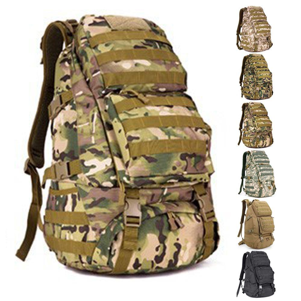a5fa4677d35a 2019 Hunting Tactical Backpack ACU Tactical Range Bag Sacheted MOLLE Tactical  Gear Hiking Rucksack Survival SWAT Military Backpacks From Yassin