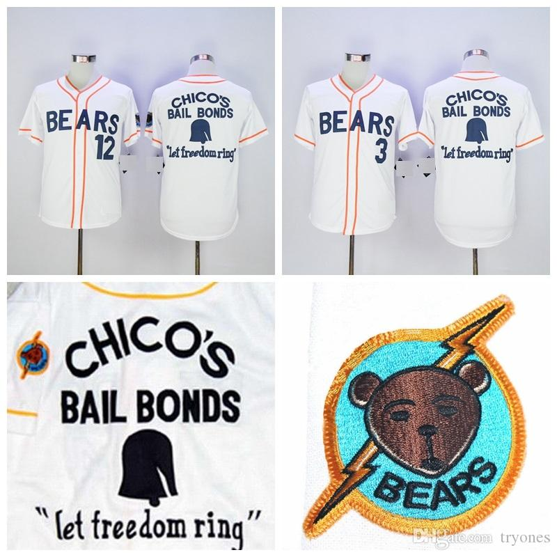 0758f258531 2019 BAD NEWS BEARS MOVIE BUTTON DOWN JERSEY #3 Kelly Leak #12 Tanner Boyle White  Movie Stitched Baseball Jersey Stitched Logo From Tryones, $16.7 | DHgate.