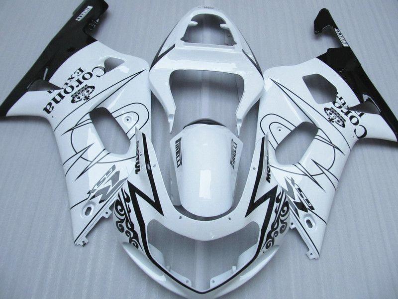 Blanc Corona Alstare pour SUZUKI GSXR 600 750 kit de carénages GSX-R600 R750 2001 2002 2003 GSXR600 GSXR750 K1 00 01 02 03 kit pièces de carrosserie