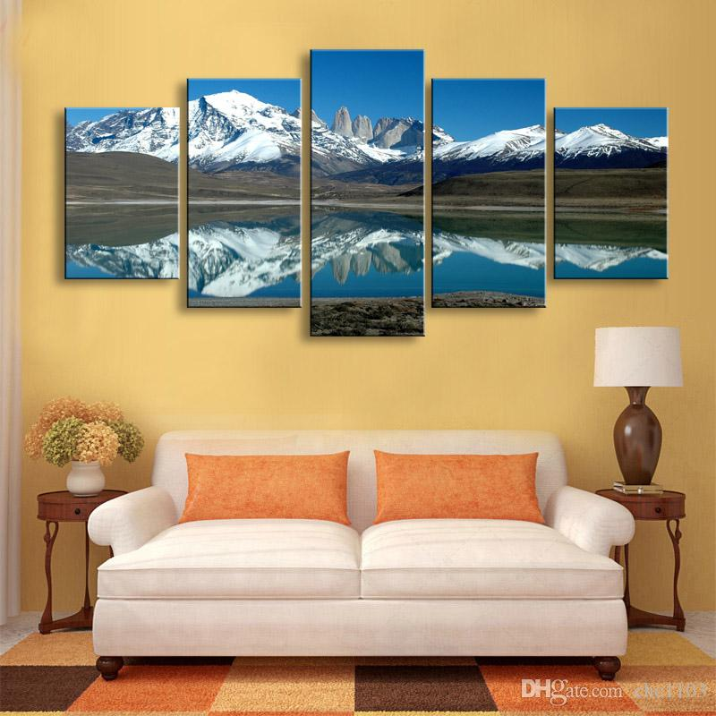 high-definition print Pulse snow canvas oil painting poster and wall art living room picture PL5-205