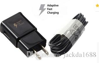 new OEM Black Type-C Cable fast charger Adaptive Rapid Wall Fast Charger For Samsung S8 S8+ Plus