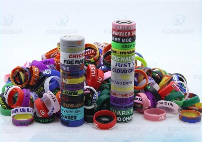 E cigarette silicon rubber band vape ring for mechanical mods rda 22mm Mod decorative protection vape mod resistance rubber vape bands