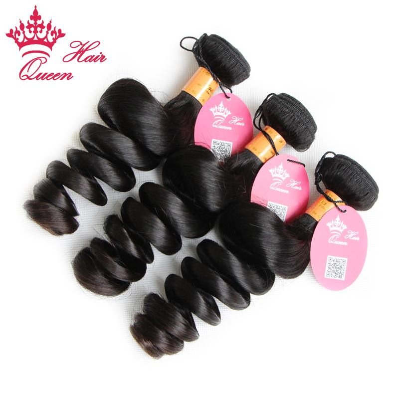 퀸 헤어 / 인도 처녀 인간의 머리카락 확장 시스템 씨실 물이 느슨한 웨이브 DHL 무료 배송 8